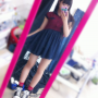 full_body japanese legs non-celebrity rubber_shoes selfshot skirt socks thighs