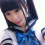 japanese non-celebrity pigtails schoolgirl selfshot tongue_out