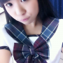 dimples japanese non-celebrity schoolgirl selfshot