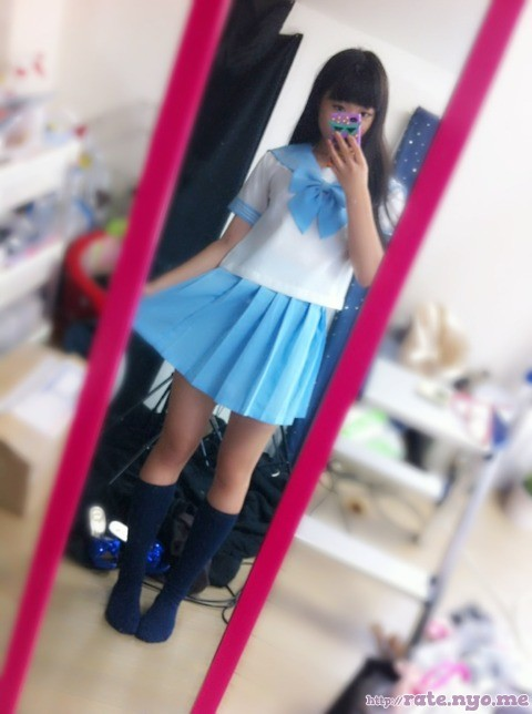 full_body japanese legs non-celebrity schoolgirl selfshot skirt socks standing thighs