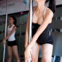 breasts cleavage legs non-celebrity ponytail shorts shoulders sleeveless standing thighs vietnamese