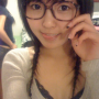bra chinese glasses non-celebrity selfshot smiling tongue_out