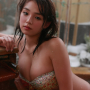 ai_shinozaki bikini breasts cleavage japanese midriff pool wet
