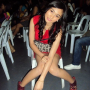 feet filipina full_body leaning legs shoulders sitting sleeveless smiling thighs tricia_santos