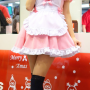 cosplay dress hair_ornament legs maid non-celebrity pigtails smiling socks taiwanese thighs