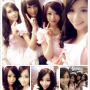 cosplay dimples four_girls hair_ornament maid non-celebrity peace_sign selfshot smiling taiwanese