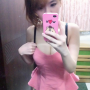breasts cleavage dress non-celebrity selfshot shoulders sleeveless standing taiwanese thighs