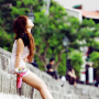 full_body legs non-celebrity shoulders sitting sleeveless thighs vietnamese