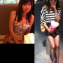 breasts chinese cleavage full_body legs non-celebrity shorts shoulders sleeveless smiling standing