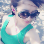 armpits breasts chinese non-celebrity selfshot shoulders sleeveless sunglasses