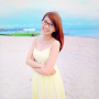 beach dress filipina glasses non-celebrity shoulders sleeveless smiling