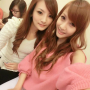 chinese non-celebrity selfshot shoulders smiling two_girls