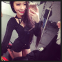 kneeling korean legs selfshot shorts smiling thighs