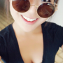 breasts cleavage japanese non-celebrity selfshot smiling sunglasses