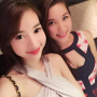 breasts cleavage dress elly_tran_ha selfshot shoulders sleeveless smiling two_girls vietnamese