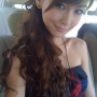 angela_yeung breasts chinese cleavage ponytail shoulders sleeveless smiling tube_top