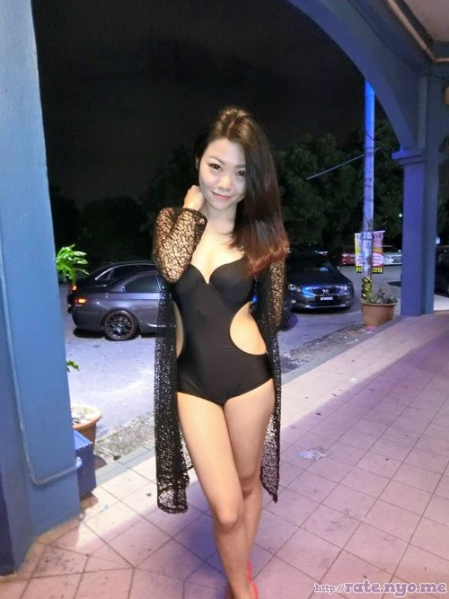 full_body legs malaysian non-celebrity one-piece standing thighs