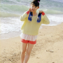 beach feet full_body japanese legs shorts standing suzuka_nakamoto thighs