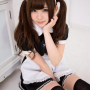 japanese legs maid pigtails sitting smiling thighs zettai_ryouiki