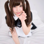 japanese maid pigtails smiling