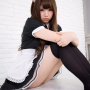 japanese maid sitting thighs zettai_ryouiki