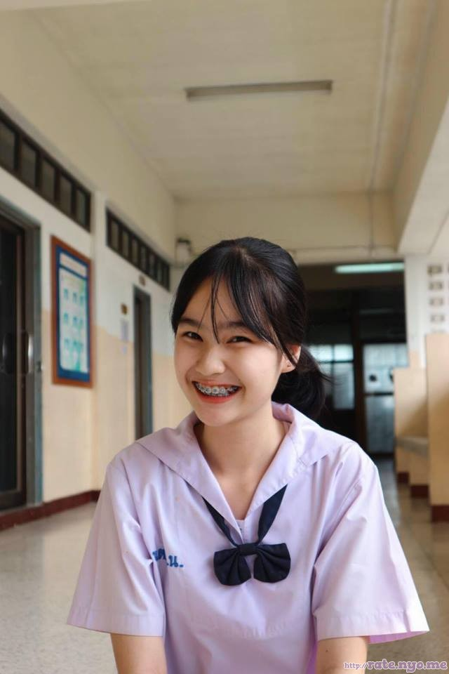 braces non-celebrity schoolgirl smiling thai