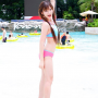 bikini feet full_body legs midriff shoulders smiling thai thighs waving