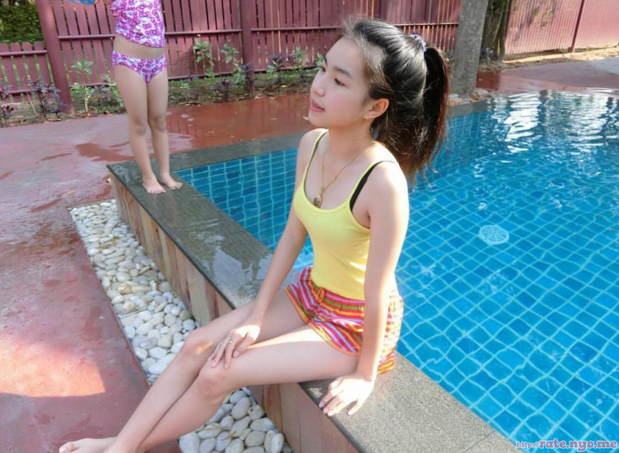 legs non-celebrity ponytail pool shorts shoulders sleeveless thai thighs