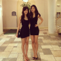 dress feet hand_on_waist legs non-celebrity shoulders singaporean smiling standing thighs two_girls