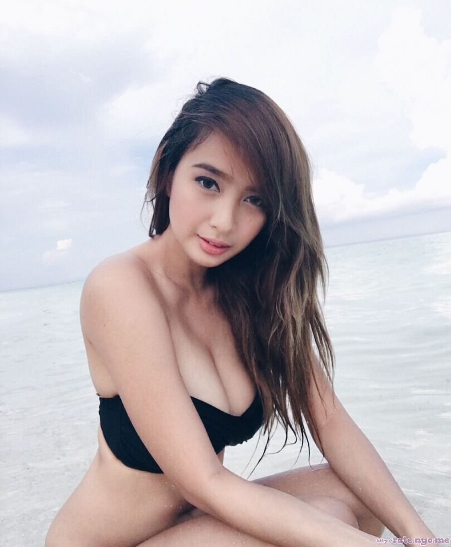 ann_mateo bikini breasts cleavage filipina legs midriff shoulders thighs wet