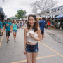 legs midriff non-celebrity shorts shoulders singaporean sleeveless standing thighs