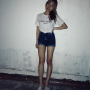 hand_on_waist jewel_goh legs malaysian shorts smiling thighs