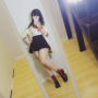cosplay full_body hand_on_waist japanese legs nikumikyo schoolgirl selfshot skirt thighs