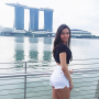 butt shorts singaporean smiling thighs