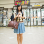 full_body japanese legs nana_ogura skirt smiling standing
