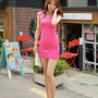 dress full_body korean legs shoulders sleeveless thighs