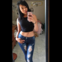 breasts glasses midriff pouting selfshot shoulders sleeveless vietnamese