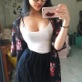 breasts cleavage glasses selfshot skirt thighs vietnamese
