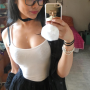 breasts cleavage glasses selfshot shoulders sleeveless vietnamese