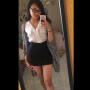 glasses legs selfshot skirt sleeveless standing thighs vietnamese