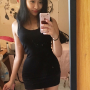 dress selfshot shoulders sleeveless thighs vietnamese