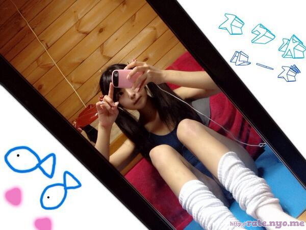 armpits japanese legs one-piece pigtails selfshot shoulders sitting socks thighs