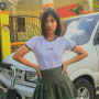 filipina hand_on_waist non-celebrity schoolgirl skirt