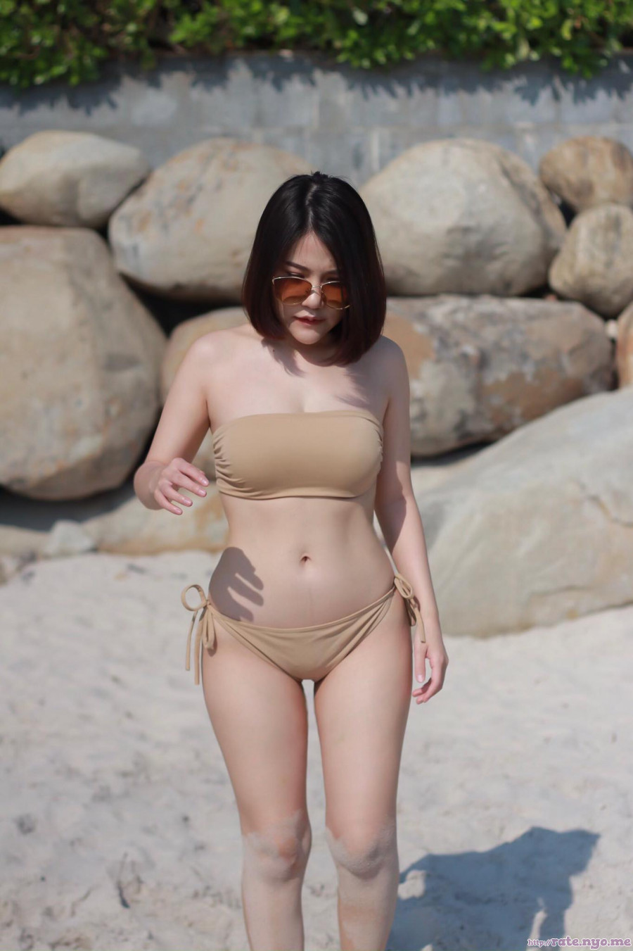 bikini breasts cleavage legs midriff shoulders sunglasses thai thighs