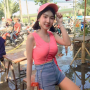 breasts hat non-celebrity pigtails shorts shoulders sleeveless smiling thai
