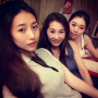 breasts malaysian non-celebrity selfshot shoulders sleeveless smiling three_girls