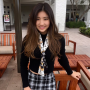 asian_american schoolgirl skirt smiling thighs