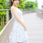 breasts dress japanese legs ponytail shoulders sleeveless smiling suzuka_morikawa