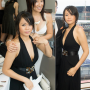 breasts cleavage dress malaysian non-celebrity shoulders sleeveless smiling two_girls