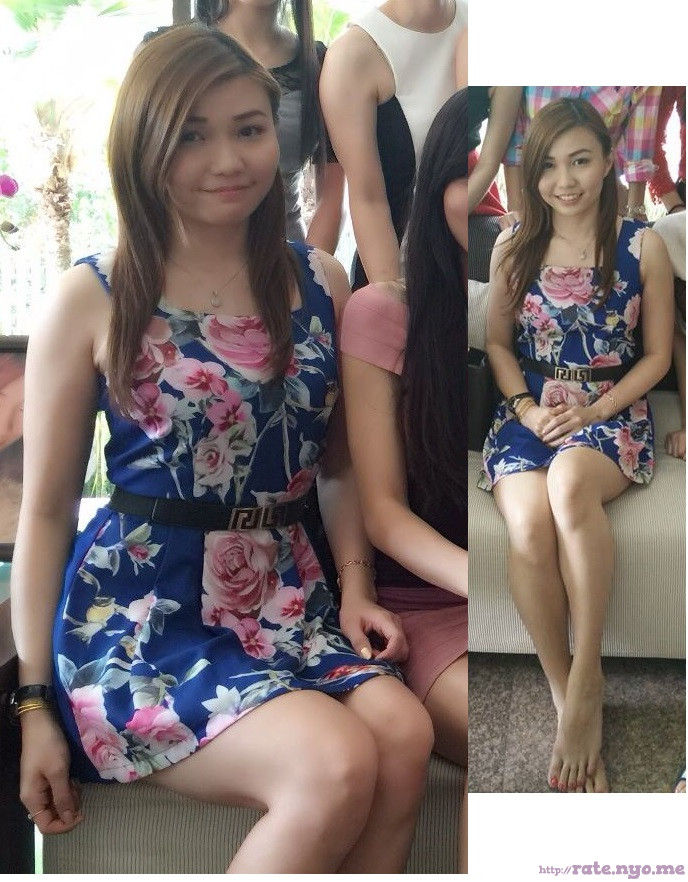 chinese dress legs non-celebrity sitting sleeveless smiling thighs
